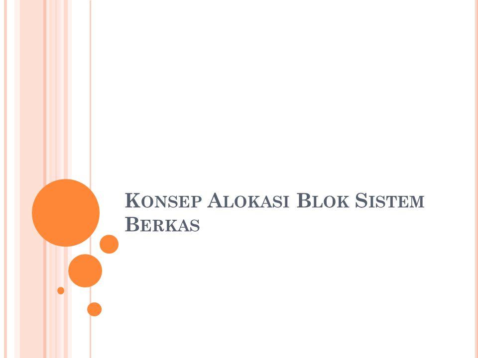 Konsep Alokasi Blok Sistem Berkas