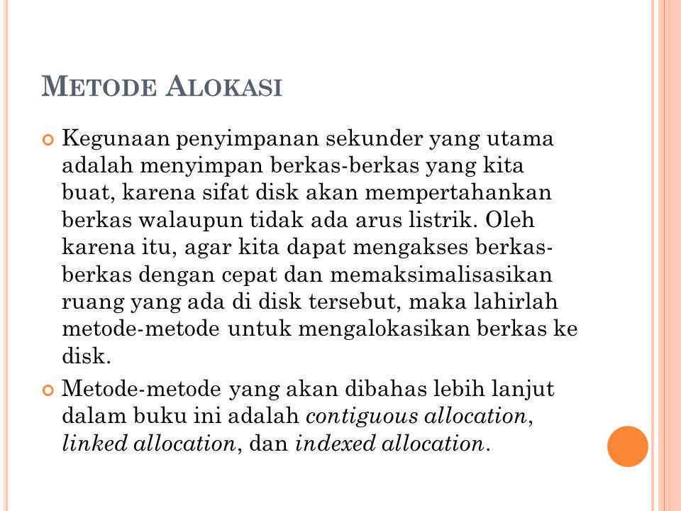 Metode Alokasi