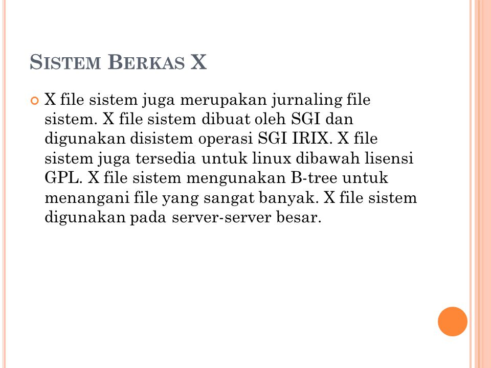 Sistem Berkas X