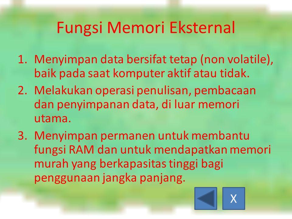 Fungsi Memori Eksternal