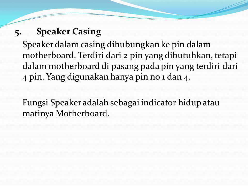 5. Speaker Casing