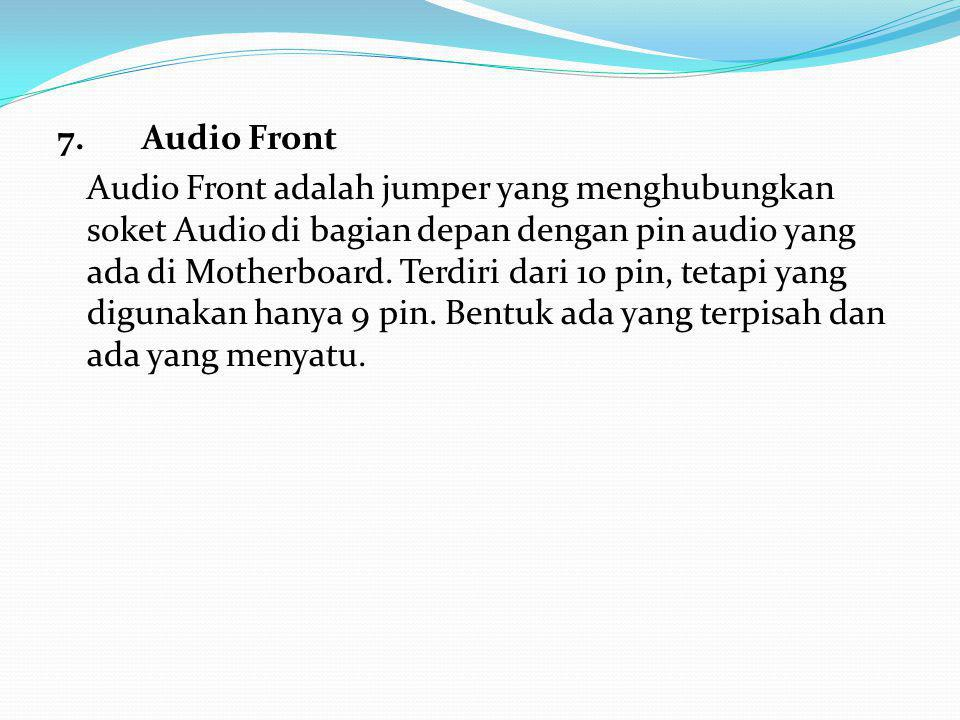 7. Audio Front