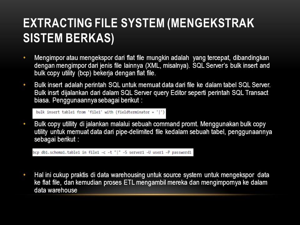 Extracting File System (Mengekstrak Sistem Berkas)