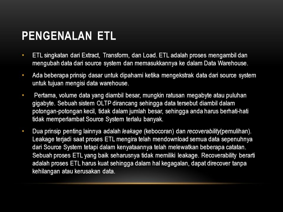 Pengenalan ETL