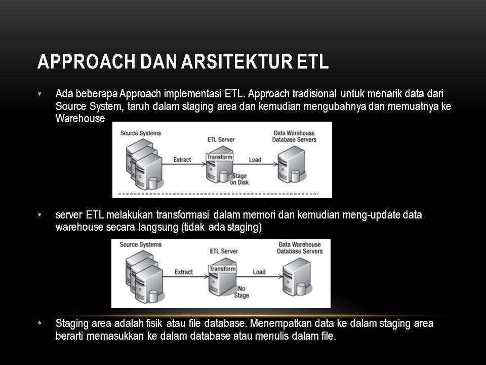 Approach dan Arsitektur ETL
