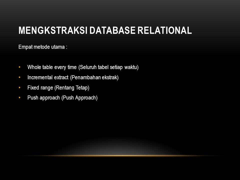Mengkstraksi Database Relational
