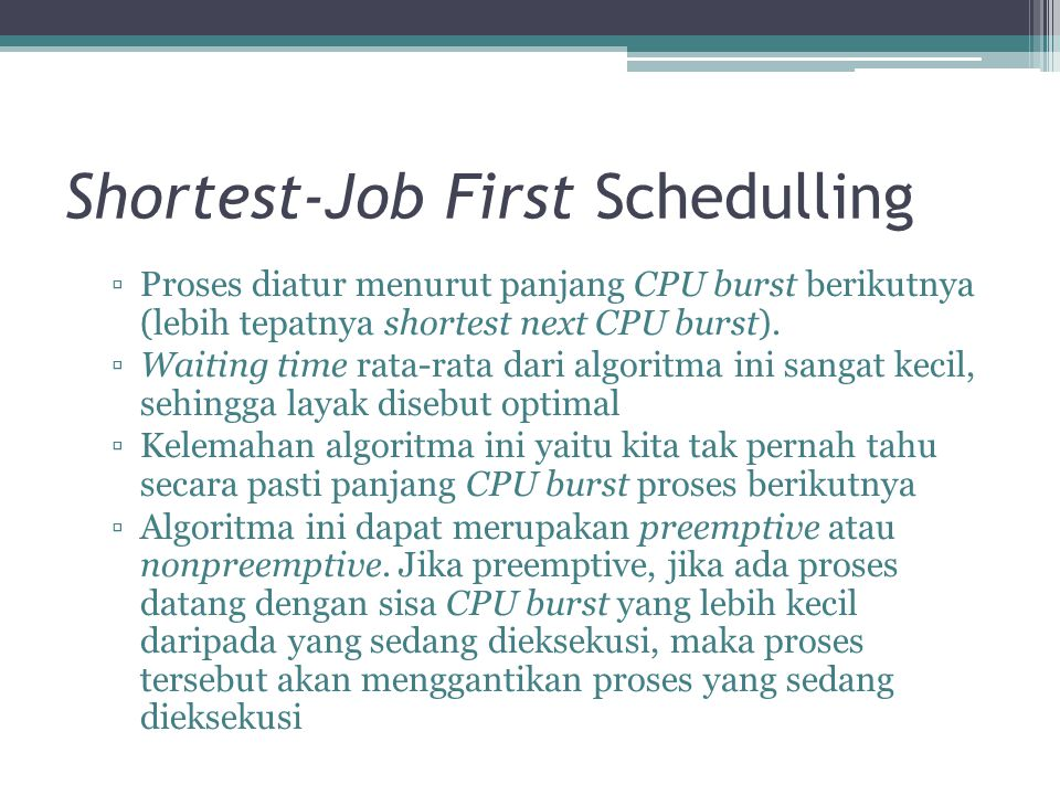 Shortest-Job First Schedulling