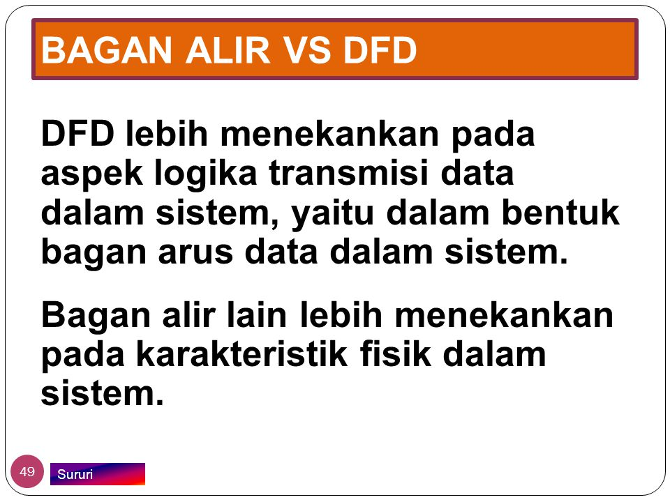 BAGAN ALIR VS DFD