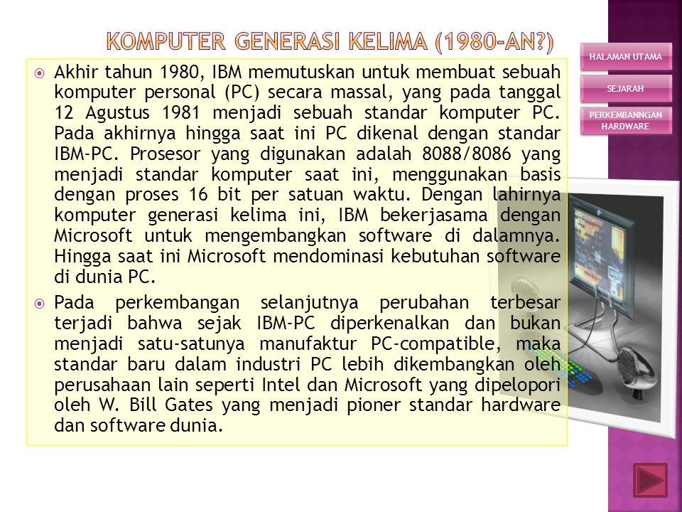 komputer generasi kelima (1980-an )