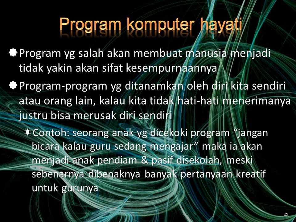 Program komputer hayati