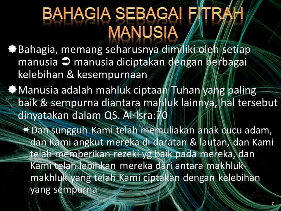 BAHAGIA SEBAGAI FITRAH MANUSIA