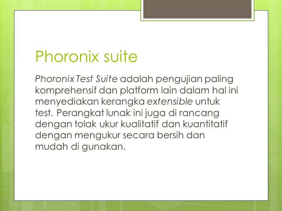Phoronix suite