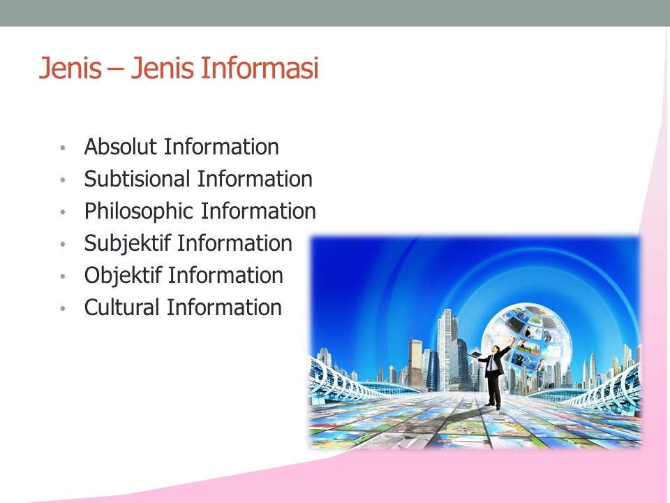 Jenis – Jenis Informasi