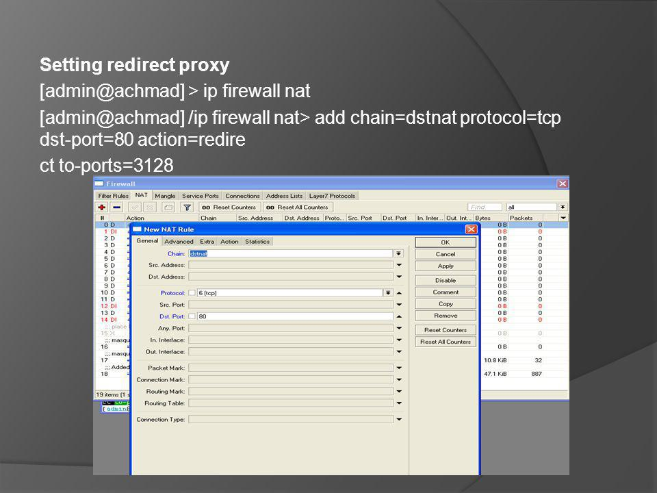 Setting redirect proxy