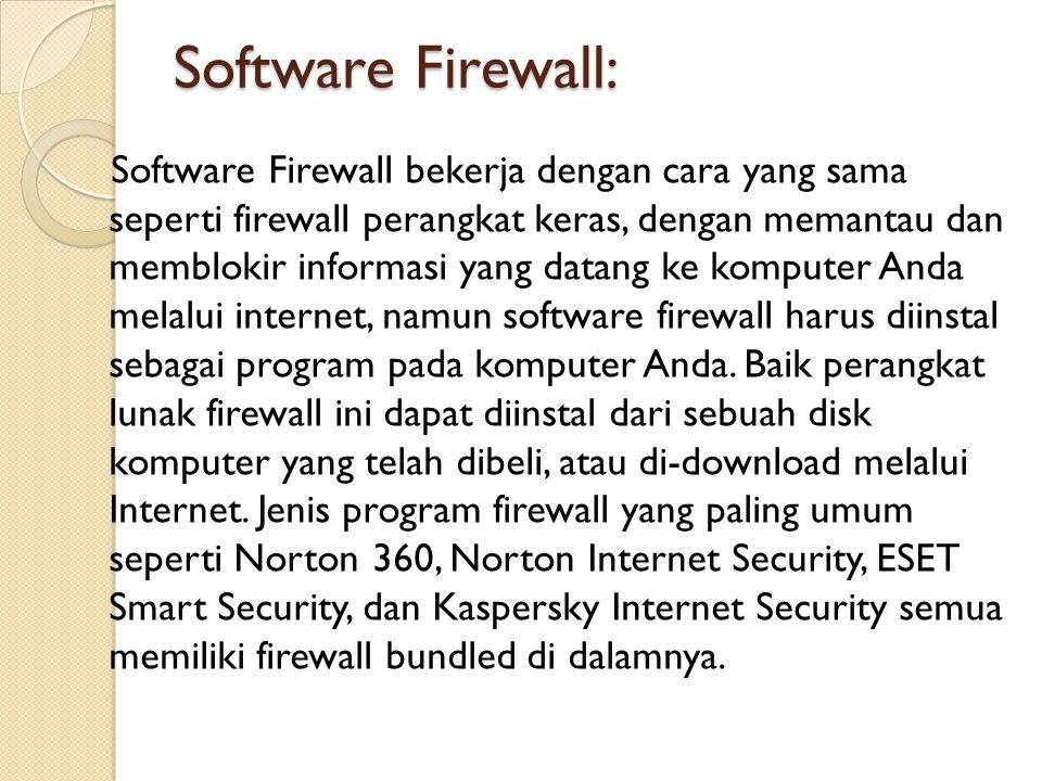 Software Firewall: