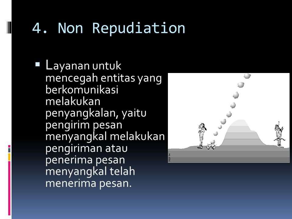 4. Non Repudiation