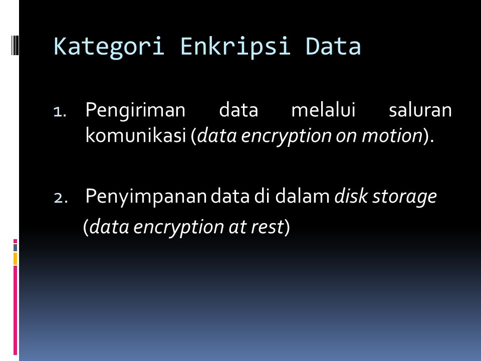 Kategori Enkripsi Data