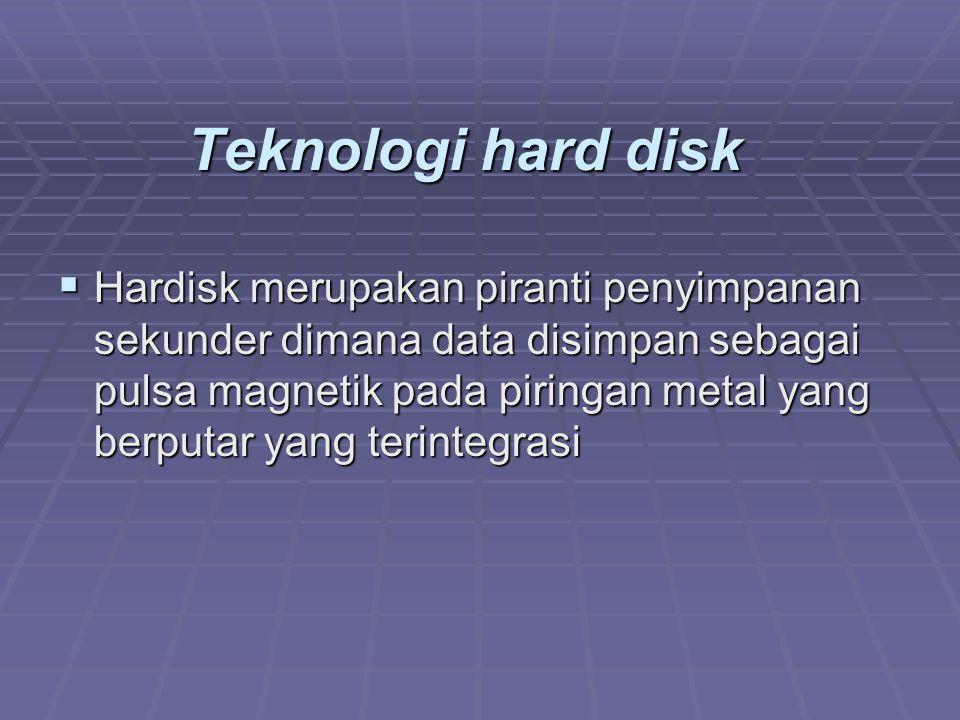 Teknologi hard disk