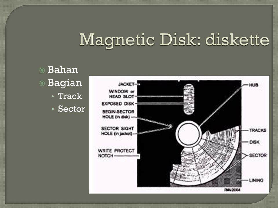 Magnetic Disk: diskette