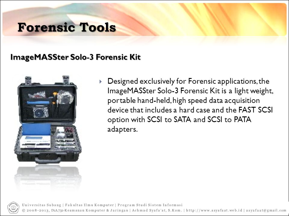 Forensic Tools ImageMASSter Solo-3 Forensic Kit