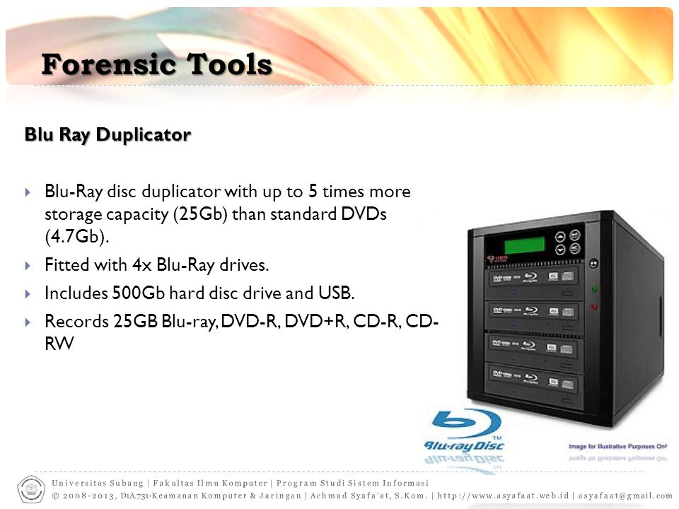 Forensic Tools Blu Ray Duplicator