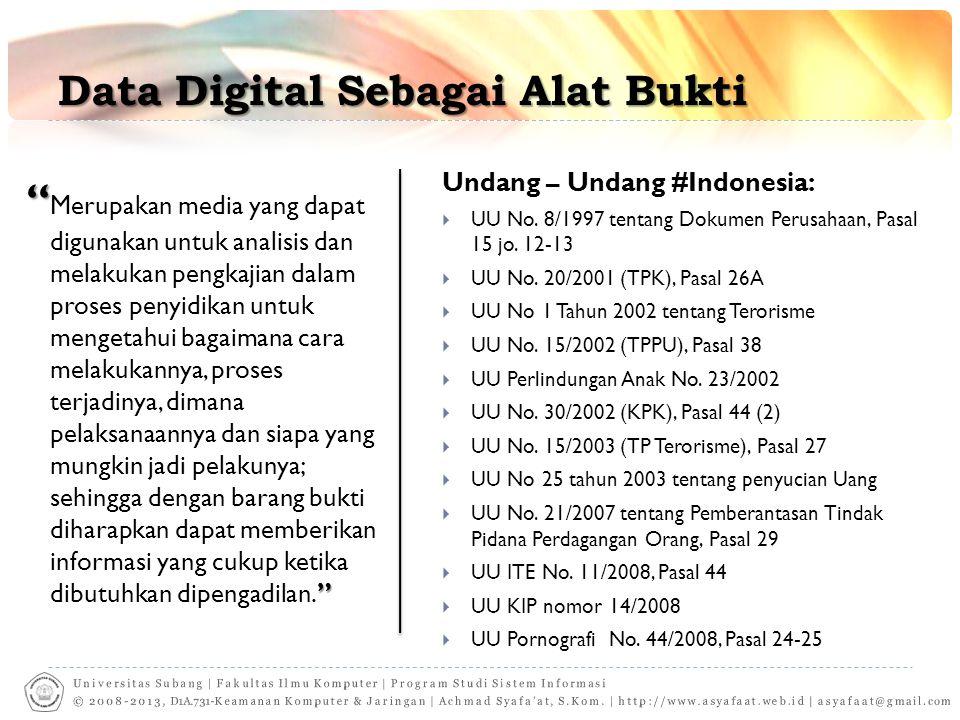 Data Digital Sebagai Alat Bukti