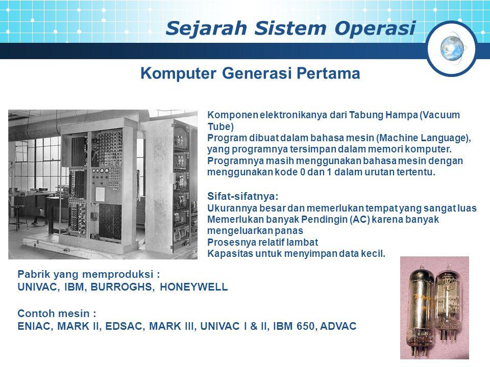 Sejarah Sistem Operasi