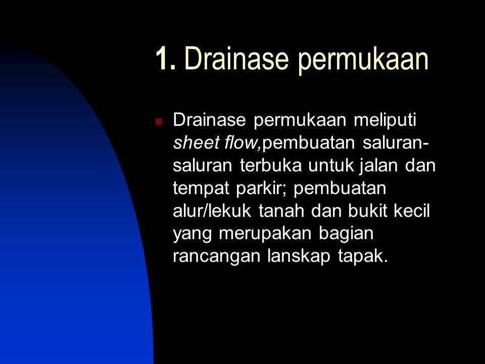 1. Drainase permukaan
