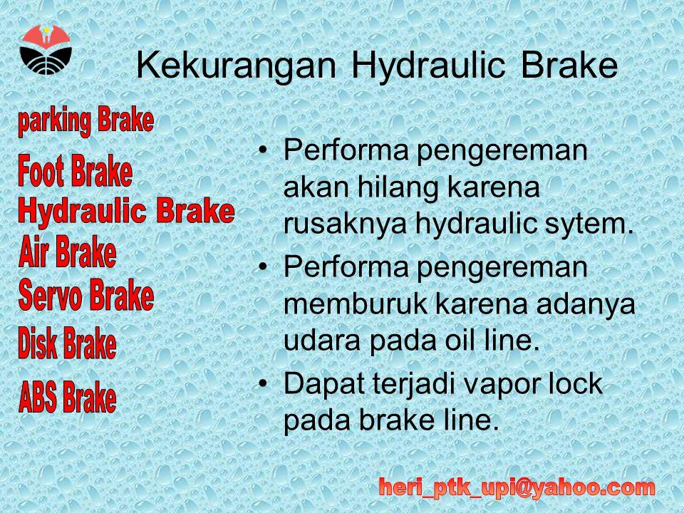 Kekurangan Hydraulic Brake
