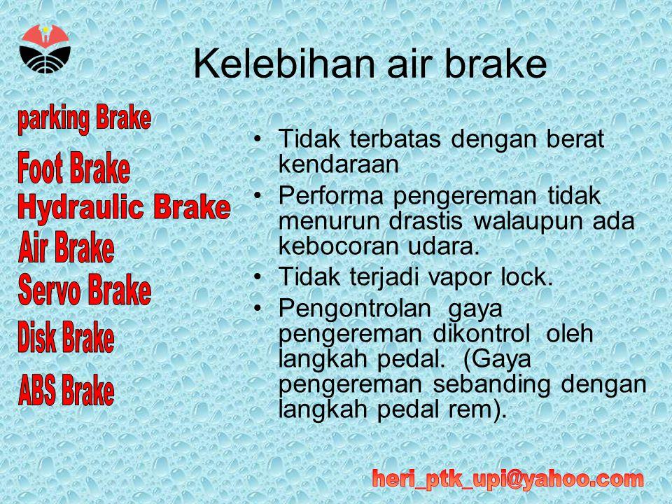 Kelebihan air brake Tidak terbatas dengan berat kendaraan