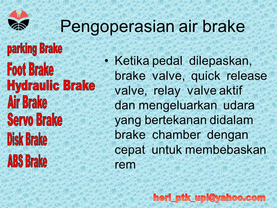 Pengoperasian air brake