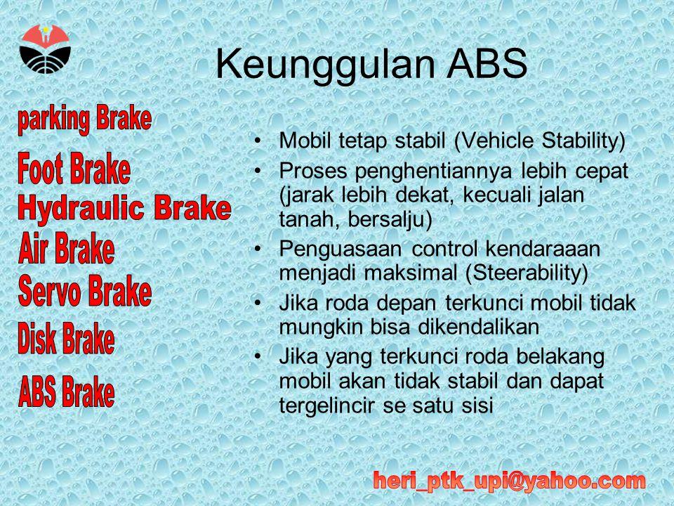Keunggulan ABS Mobil tetap stabil (Vehicle Stability)