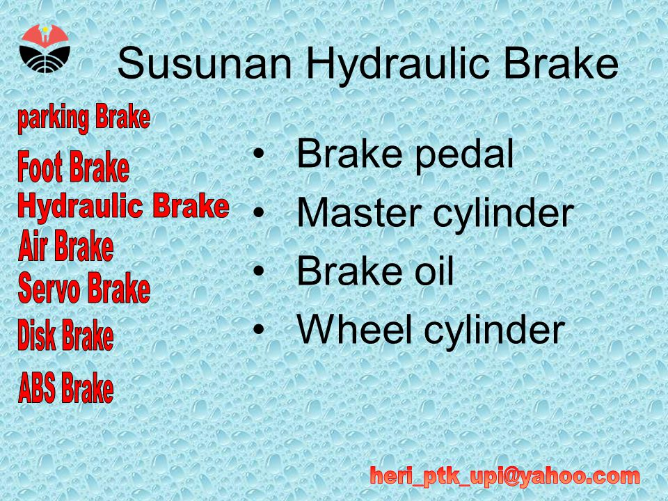 Susunan Hydraulic Brake