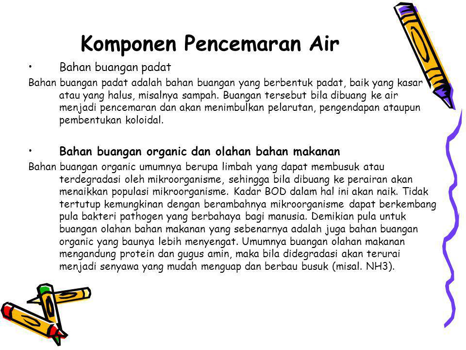 Komponen Pencemaran Air