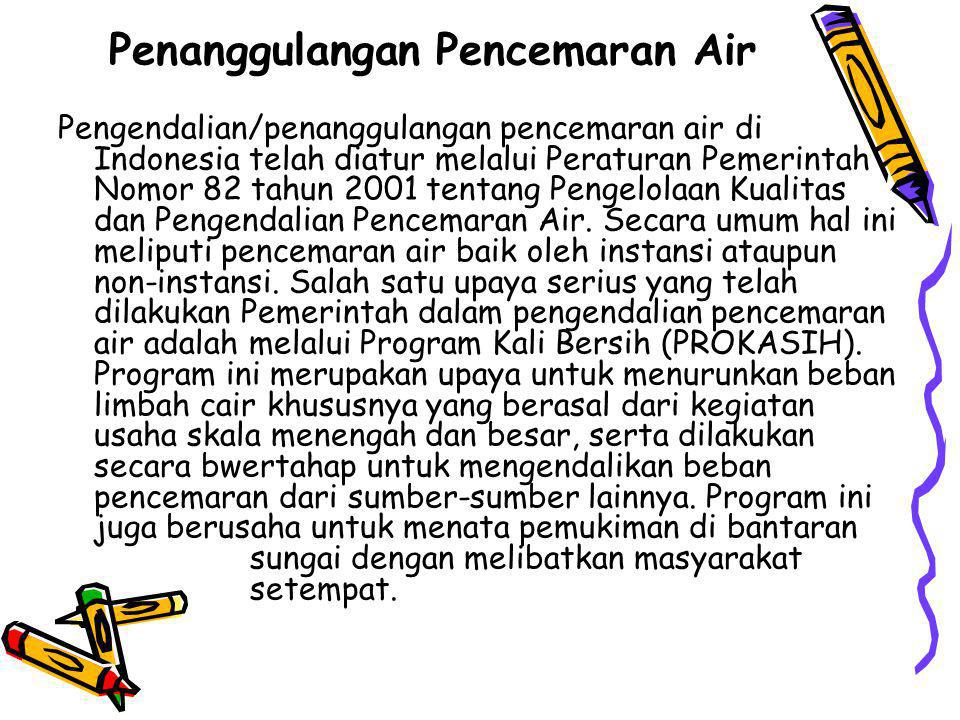 Penanggulangan Pencemaran Air