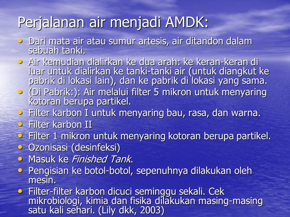Perjalanan air menjadi AMDK: