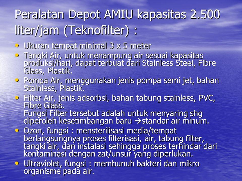 Peralatan Depot AMIU kapasitas 2.500 liter/jam (Teknofilter) :