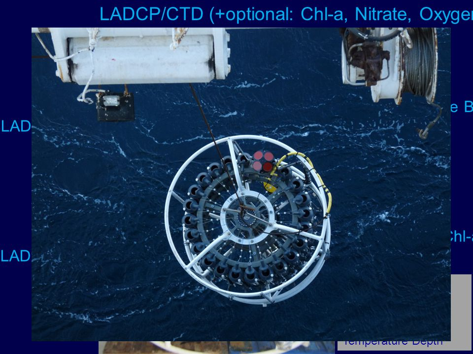 LADCP/CTD (+optional: Chl-a, Nitrate, Oxygen,)