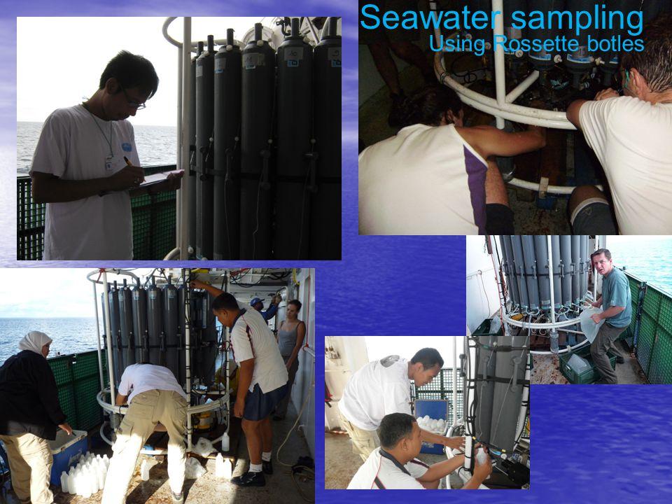 Seawater sampling Using Rossette botles