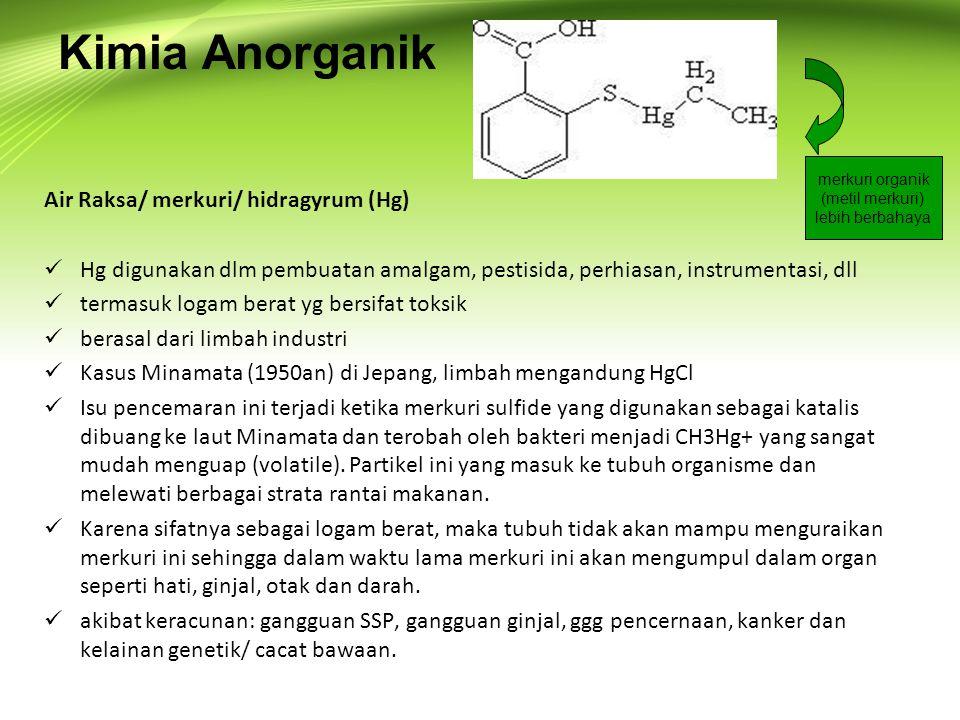Kimia Anorganik Air Raksa/ merkuri/ hidragyrum (Hg)