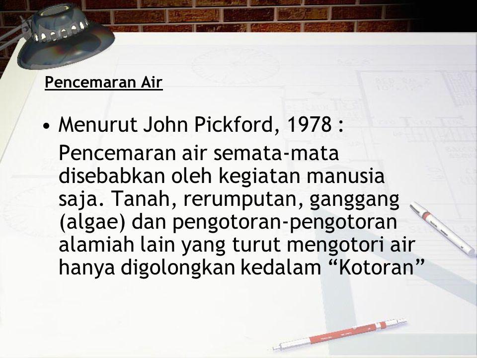 Menurut John Pickford, 1978 :