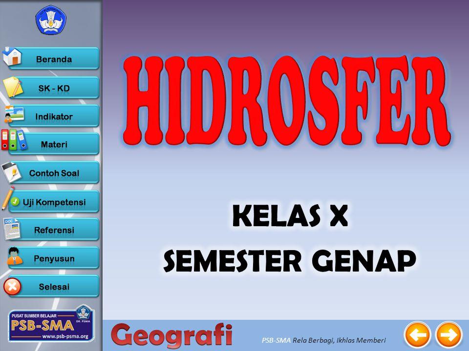HIDROSFER KELAS X SEMESTER GENAP