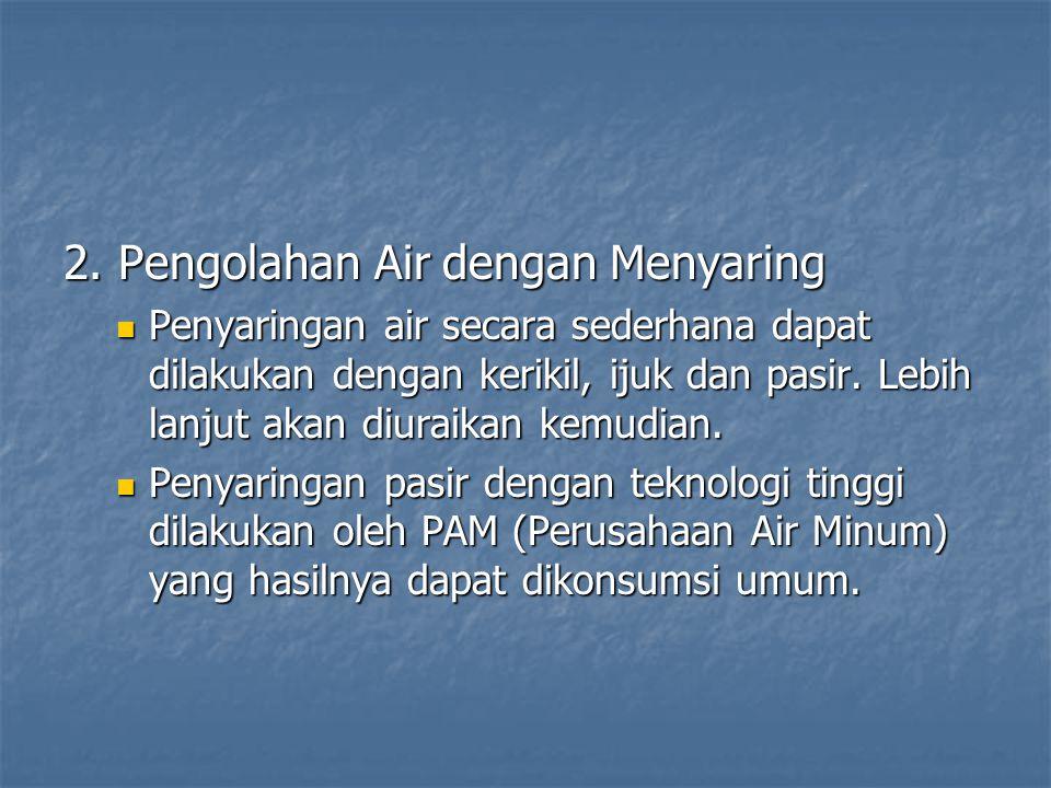 2. Pengolahan Air dengan Menyaring