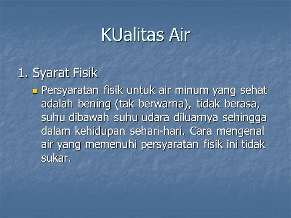 KUalitas Air 1. Syarat Fisik