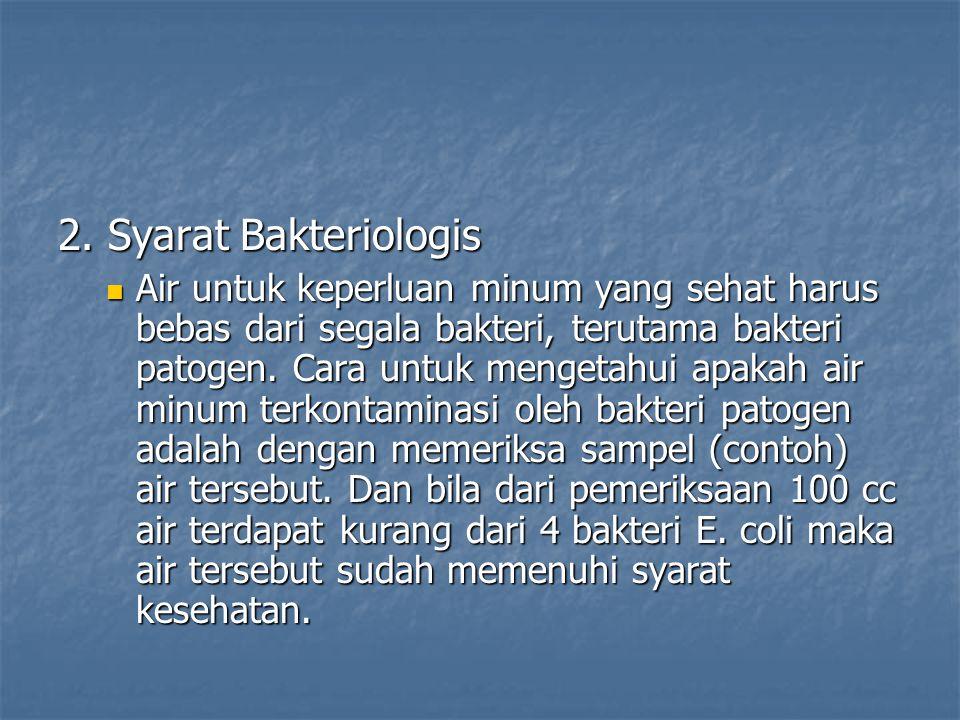 2. Syarat Bakteriologis