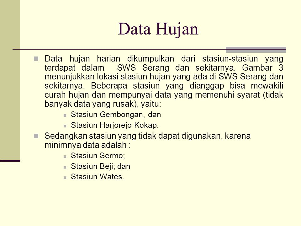 Data Hujan
