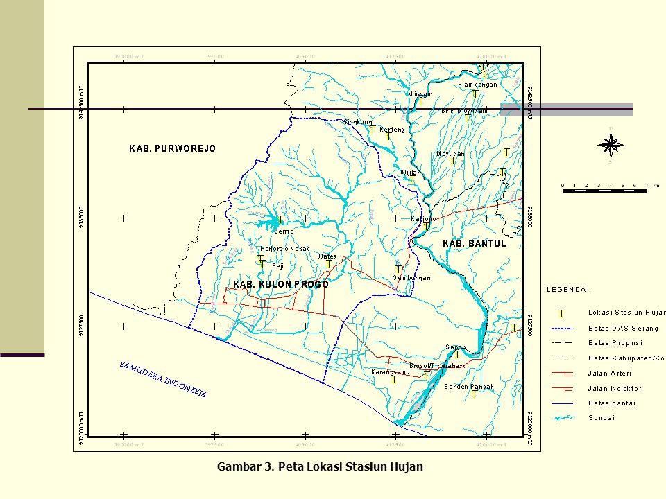 Gambar 3. Peta Lokasi Stasiun Hujan