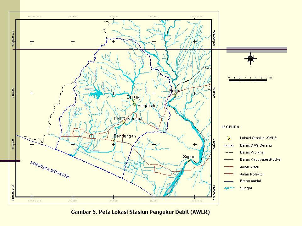 Gambar 5. Peta Lokasi Stasiun Pengukur Debit (AWLR)