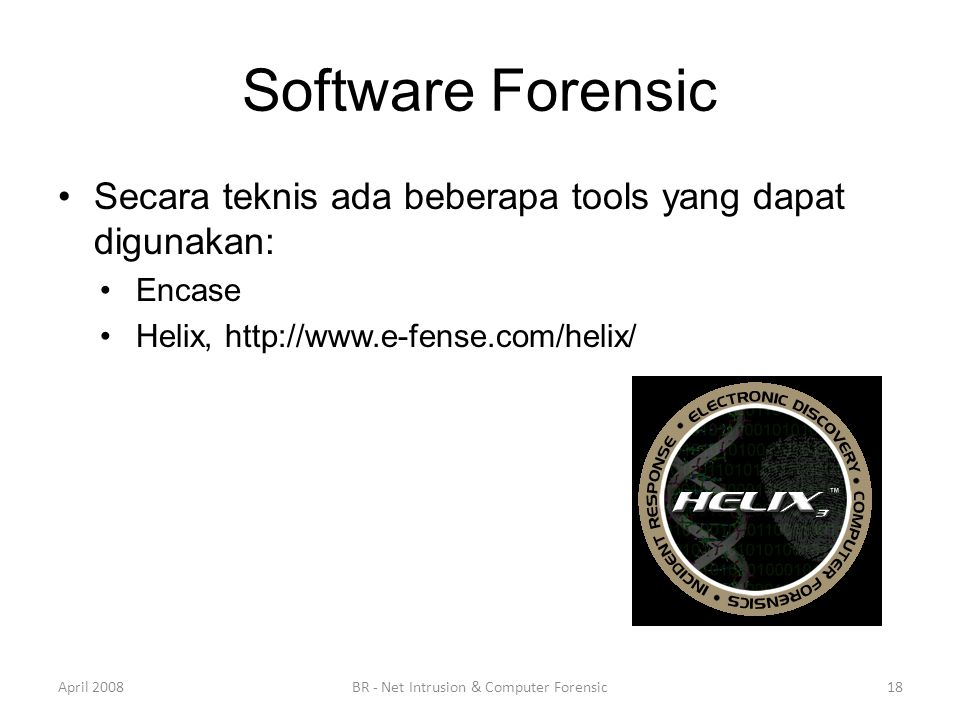BR - Net Intrusion & Computer Forensic