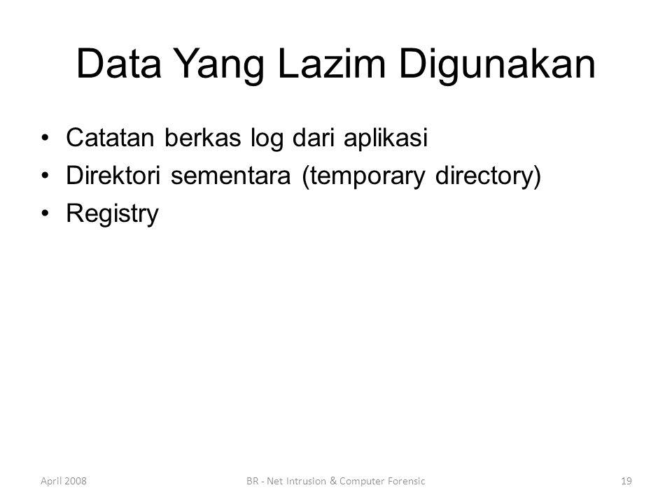Data Yang Lazim Digunakan